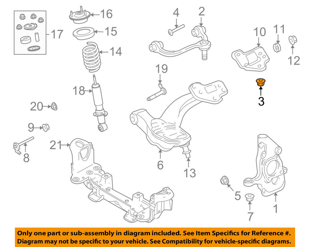 hight resolution of details about ford oem front suspension upper ball joint nut w710298s441