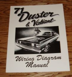 details about 1971 plymouth duster valiant wiring diagram manual 71 [ 1000 x 990 Pixel ]