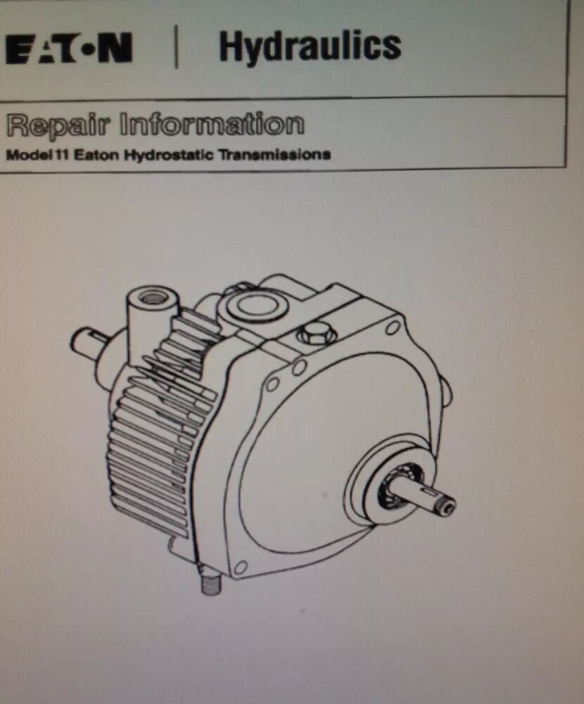 medium resolution of details about lawn garden tractor eaton 11 transmission parts service manual wheel horse