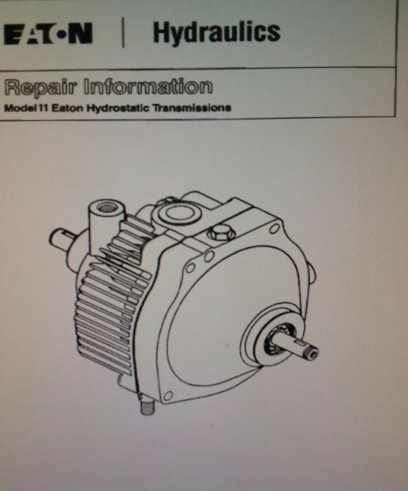 hight resolution of details about lawn garden tractor eaton 11 transmission parts service manual wheel horse