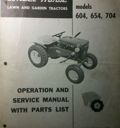 details about wheel horse 604 654 704 lawn garden tractor operation service parts manual [ 792 x 1000 Pixel ]