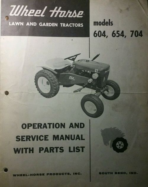 small resolution of details about wheel horse 604 654 704 lawn garden tractor operation service parts manual