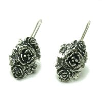E000546 STERLING SILVER EARRINGS SOLID 925 FLOWERS