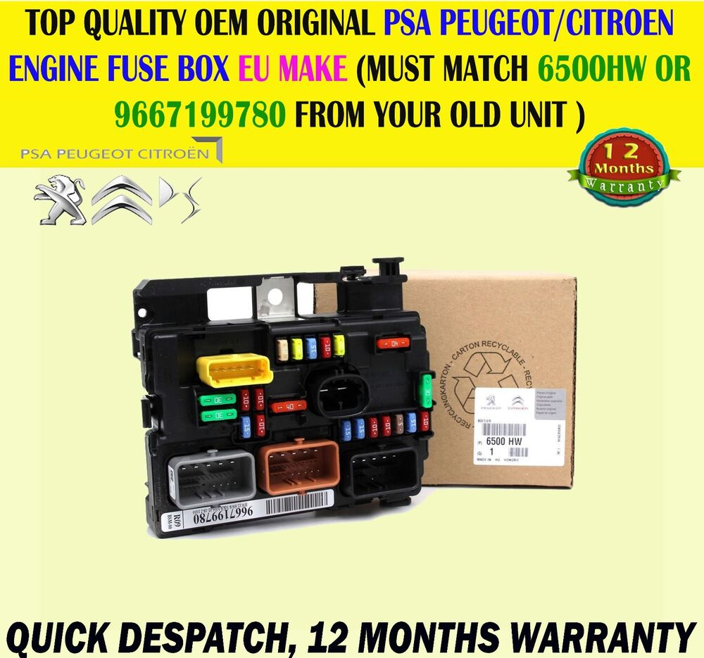 medium resolution of  fuse box on peugeot 207 fits peugeot 207 citroen c3 picasso electronic control