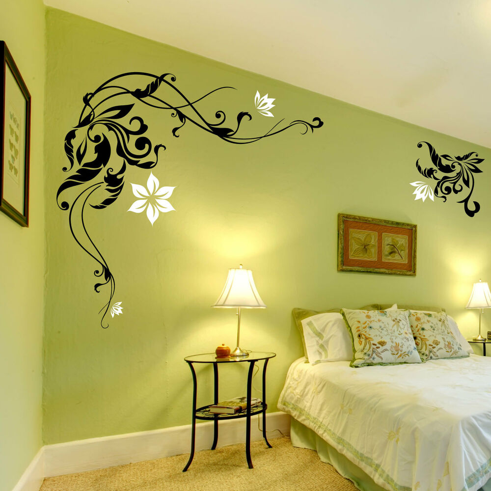 Large Flower Wall Stickers / Wall Decals / Wall Graphic