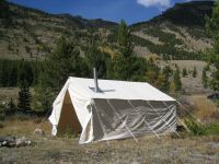 NEW 8x10x5ft Outfitter Canvas Wall Tent + Alum Frame | eBay