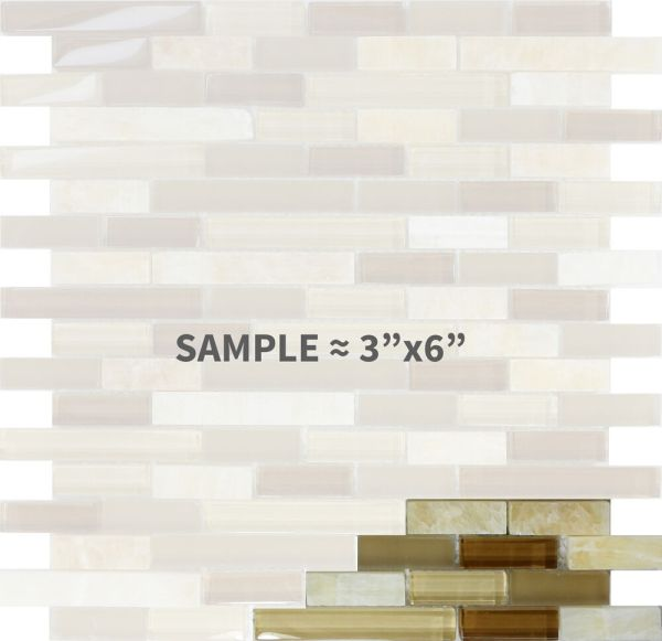 Honey Onyx Marble Glass Mosaic Tile Sample Backsplash
