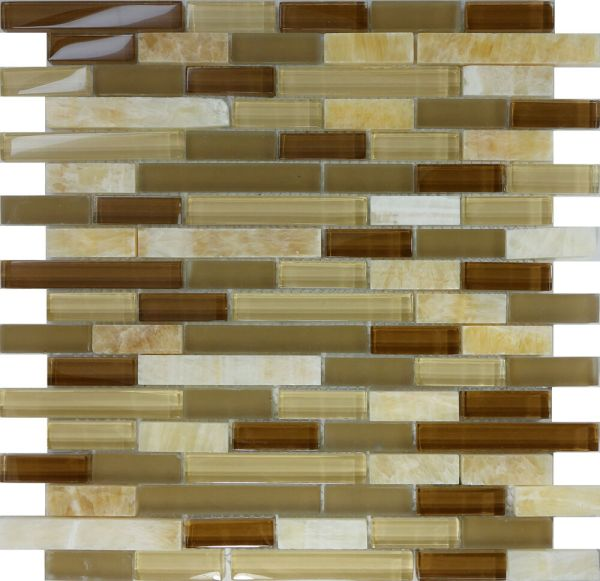 10sf Honey Onyx Marble Glass Mosaic Tile Kitchen