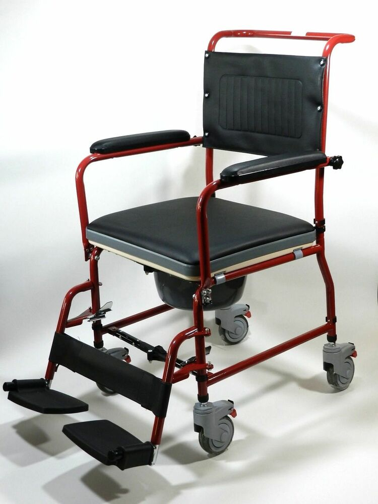 Commode Wheelchair Mobile Bedside Toilet Shower Chair