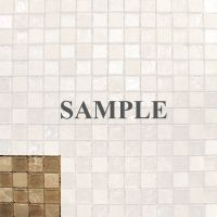 Sample- Beige Iridescent & Stone Glass Mosaic Tile Kitchen ...
