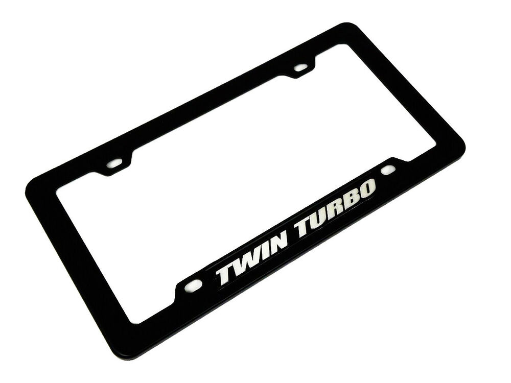 TWIN TURBO CAR TRUCK HOT ROD ENGINE LICENSE PLATE TAG