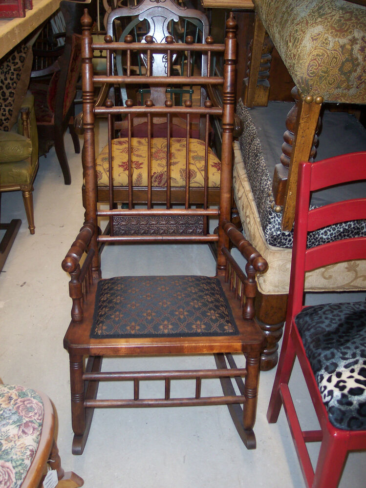 Cherry Stick and Ball Spindle Rocker  Rocking Chair R65