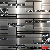 SAMPLE- Stainless Steel Metal pattern Mosaic Tile Kitchen ...