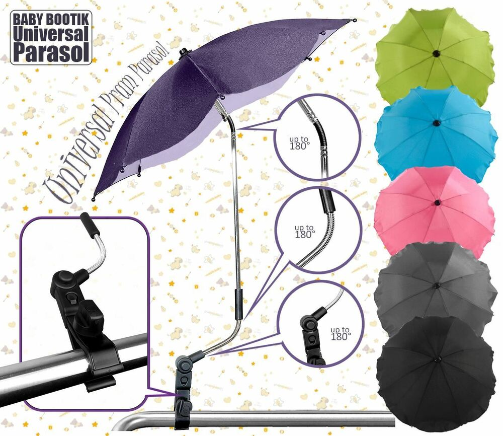 wheelchair accessories ebay vibrating baby chair universal sun rain parasol / umbrella pram pushchair canopy at babybootik |