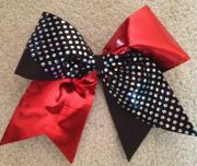 cheer cheerleading hair bow ribbon