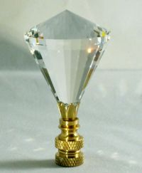 LAMP FINIAL-STUNNING LEADED CRYSTAL LAMP FINIAL-CLEAR ...