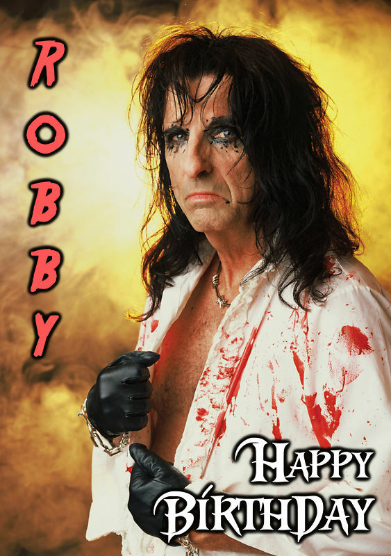 Alice Cooper Rock Heavy Metal Music PERSONALISED Birthday