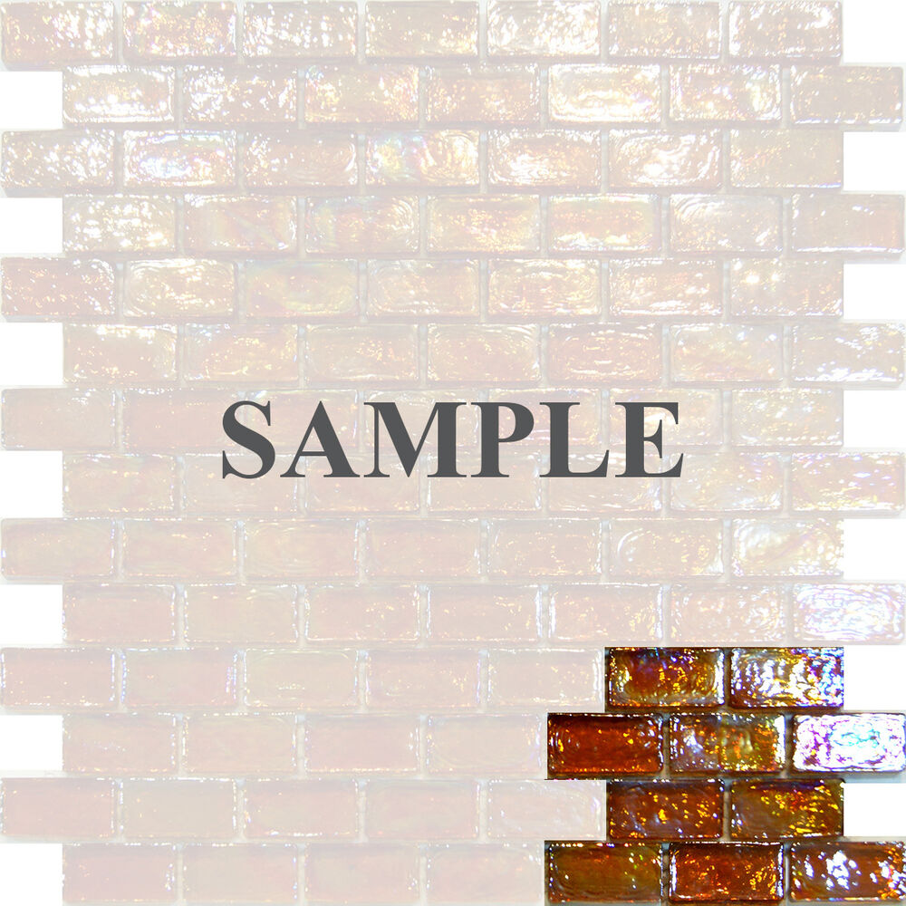 brown kitchen sink 24 sample-golden iridescent subway glass mosaic tile ...