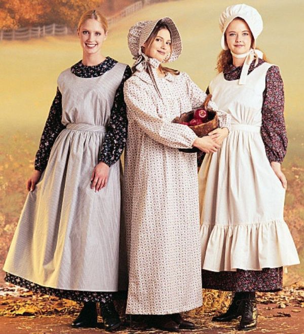 Misses Pioneer Costume Pattern Mccalls 9423 7220 Dress