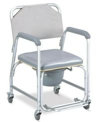 3-in-1 Commode Wheelchair Bedside Toilet & Shower Chair ...