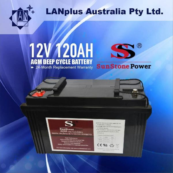 12v 120ah Agm Deep Cycle Battery Sla Marine Caravan Solar Camper 4wd Dual Fridge