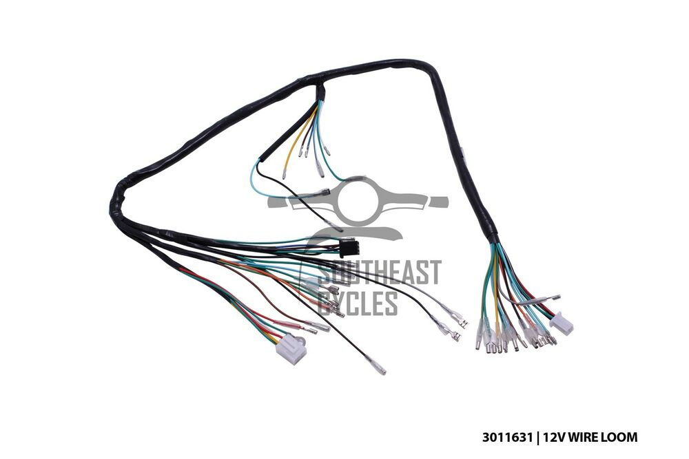 12v Complete wire harness loom for Honda cub C50, C70