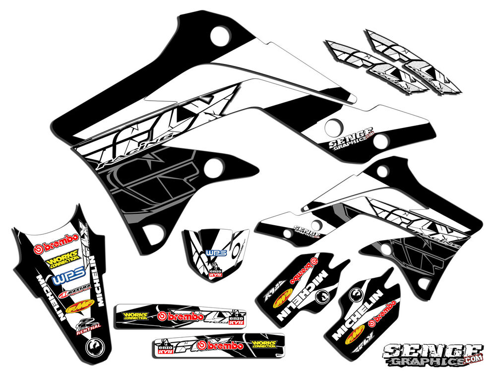 1998 1999 2000 KX 80 100 GRAPHICS KIT KAWASAKI KX80 KX100