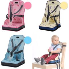 Baby Portable High Chair Safety Harness Folding Chairs And Table Kids Toddler Feeding Booster Seat Cover Cushion | Ebay