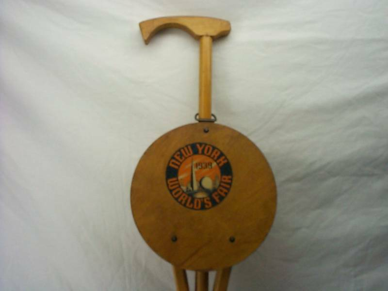 walking cane chair lenox christmas covers vintage, 1939 new york world's fair cane, seat, chair, by kan-o-seat, 1935   ebay