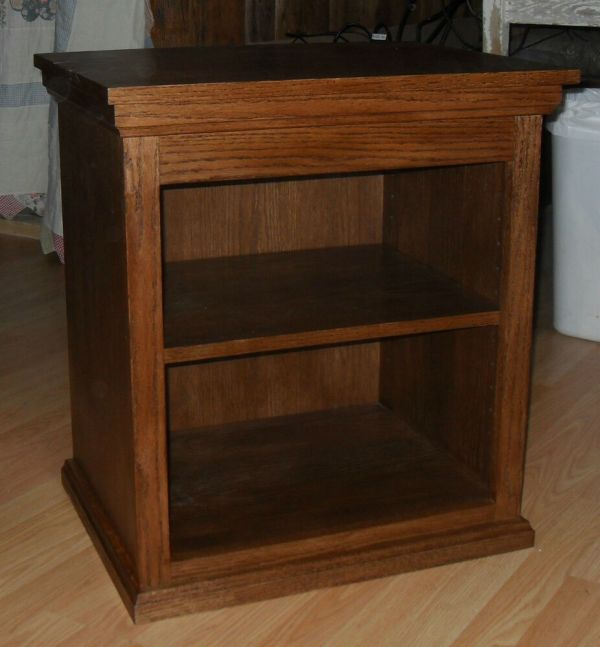 Oak Printer Stand Night End Table Handmade Real Wood