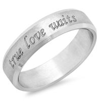 True Love Waits Stainless Steel Promise Ring - Free inside ...