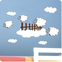 Childrens Bedroom Counting Sheep Wall Stickers -Vinyl Baby ...