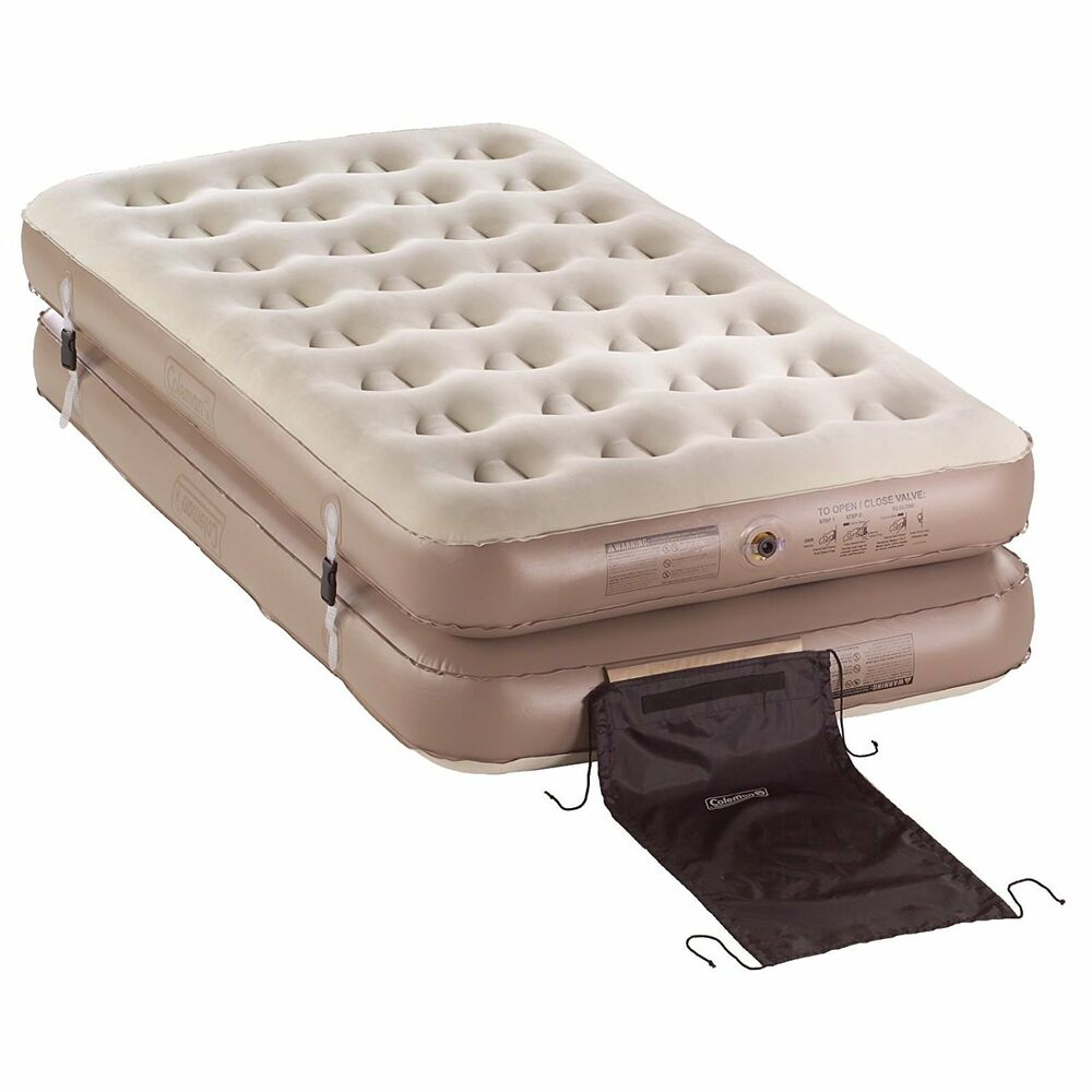 Coleman 4N1 Inflatable QuickBed Air Mattress  2 Twin or 1 King Camping Bed  eBay
