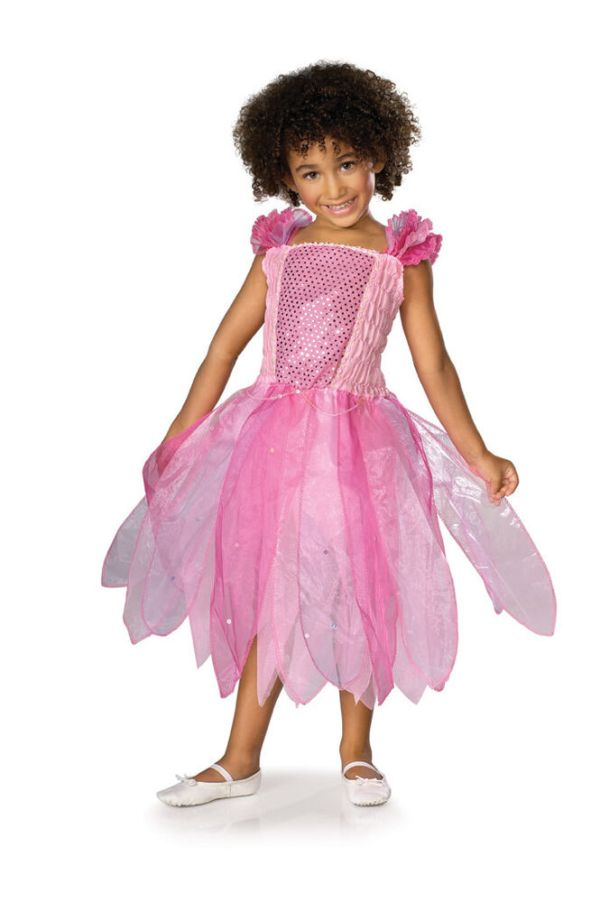 Pink Princess Fairy Pixie Ballerina Sequin Cute Dress Up