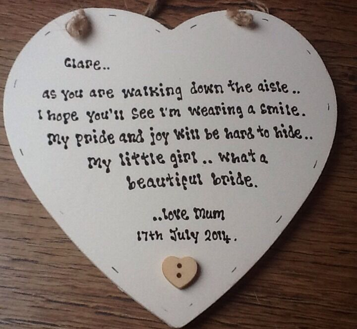 Shabby Personalised Chic Mother Of The Bride Gift For
