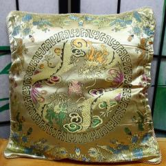 How To Cover A Sofa Cushion Laz Y Boy Gold Chinese Oriental Pillow Case Home Decor ...