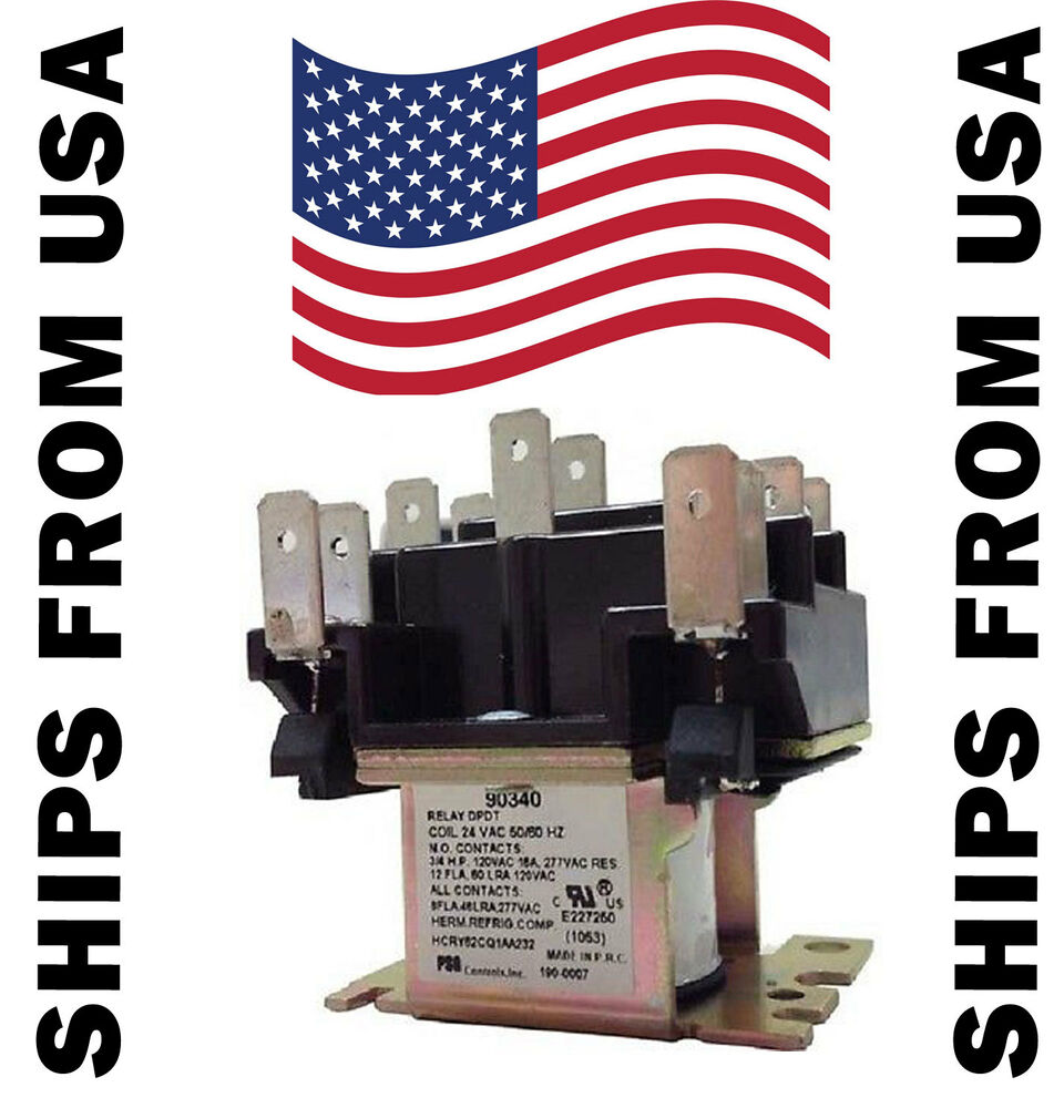 hight resolution of details about 90 340 switching relay dpdt 24 volt coil also replaces honeywell r8222d1014