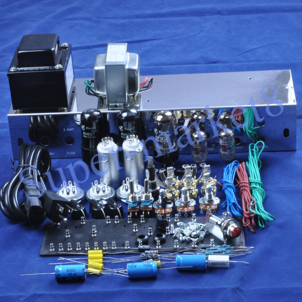 hight resolution of details about fenders 5e3 deluxe guitar tube amp 6v6 push pull kit chassis diy