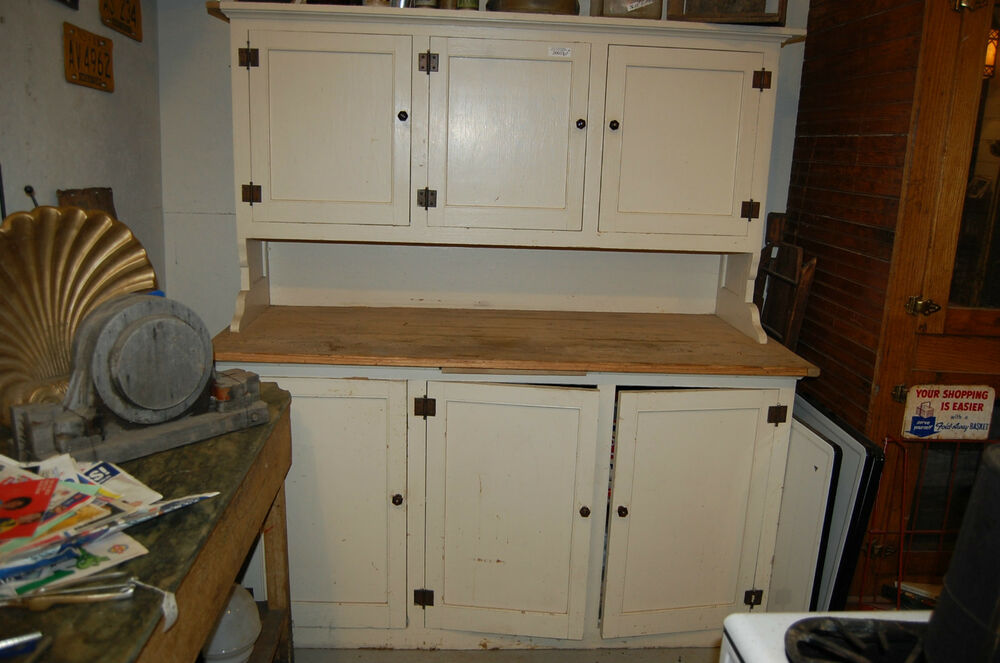 ANTIQUE KITCHEN CUPBOARD STEP BACK CABINETOLD HOUSE