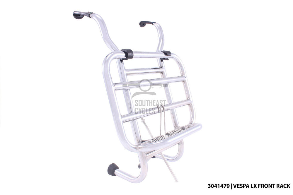 Stainless steel folding front rack carrier vespa LX50