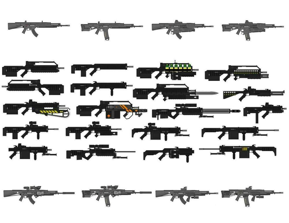 ASSAULT RIFLES GLOSSY POSTER PICTURE PHOTO cool guns ar15