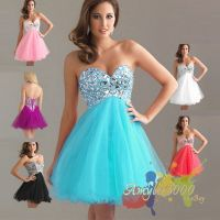 Sweetheart Party Bridesmaid Formal Evening Short Prom ...