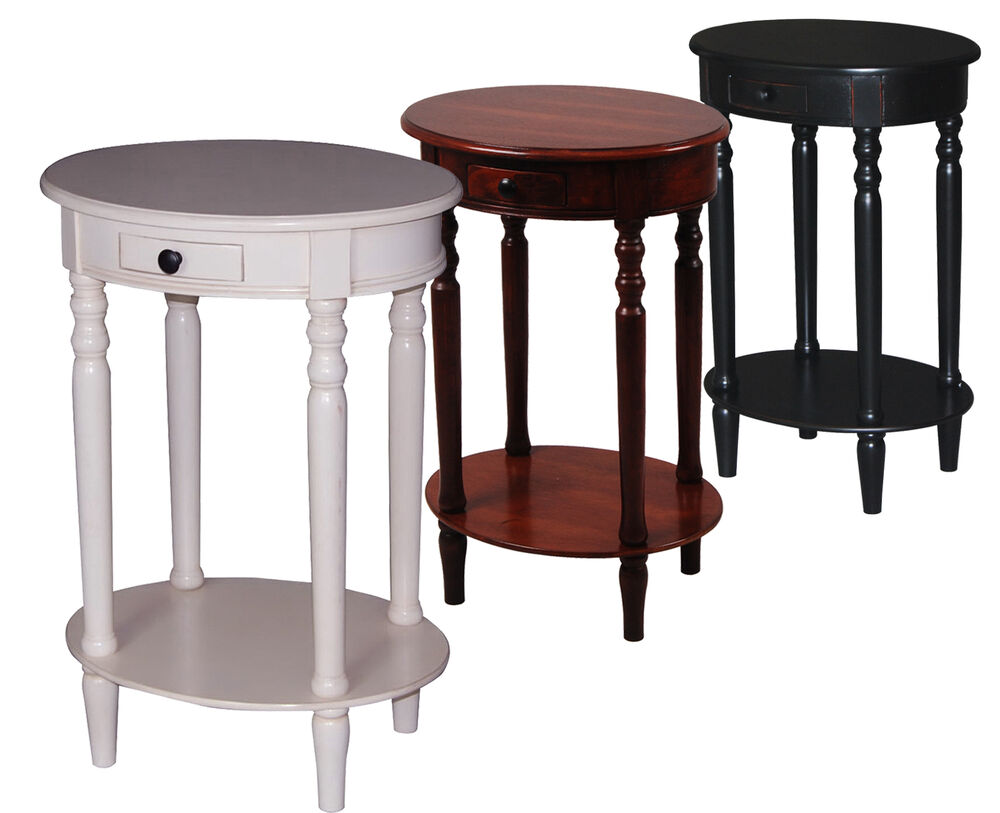 Urbanest Solid Wood Oval Accent Side End Table With A