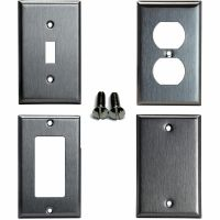 Toggle Duplex Decorator Blank Brushed Stainless Steel ...
