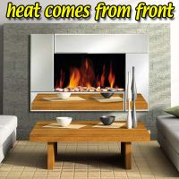 Wall Mounted Electric Fire Widescreen Home Living Flame ...