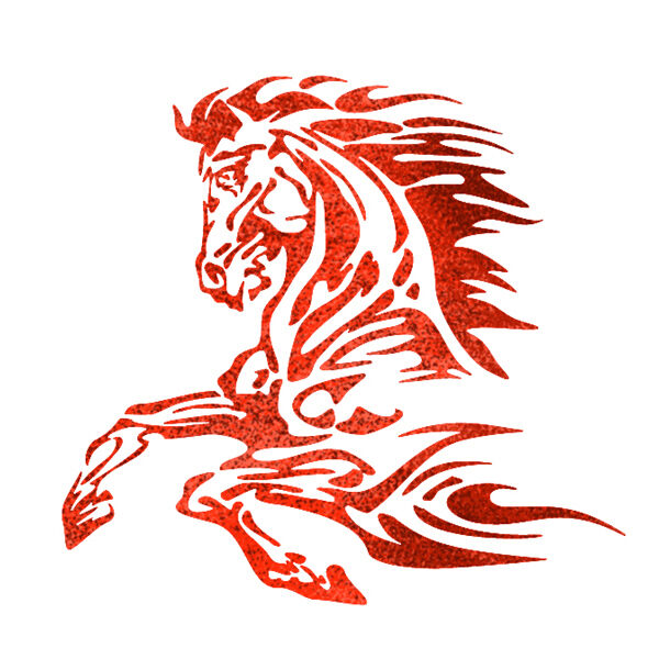 Flames Stencils Airbrush Template Flame Horse For Tatoo