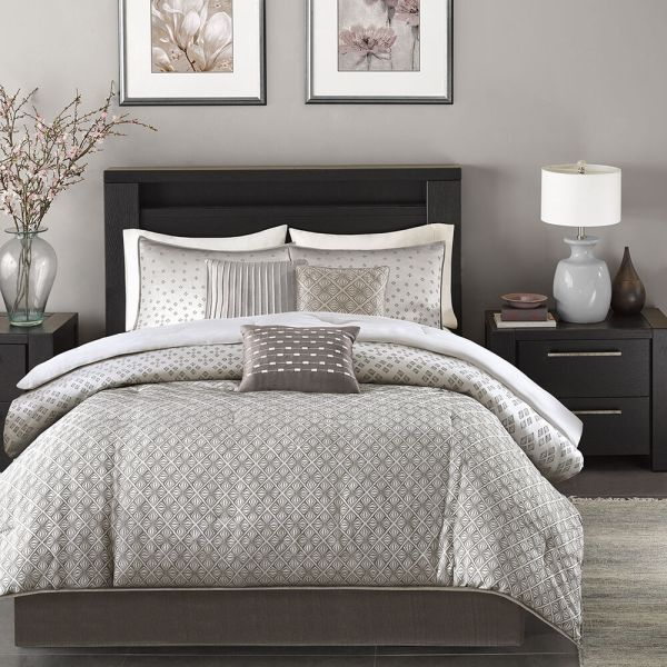 Silver and Grey Comforter Sets