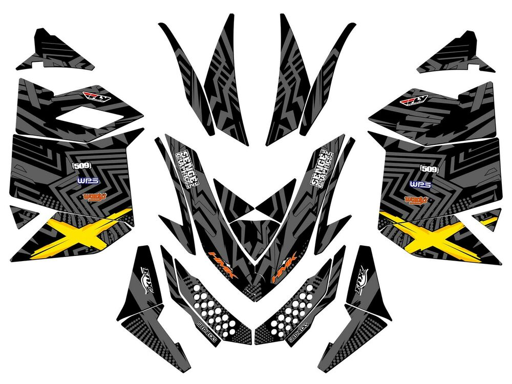 2008 2009 SKI DOO XP GRAPHICS KIT SKIDOO BRP DECO WRAP SKI