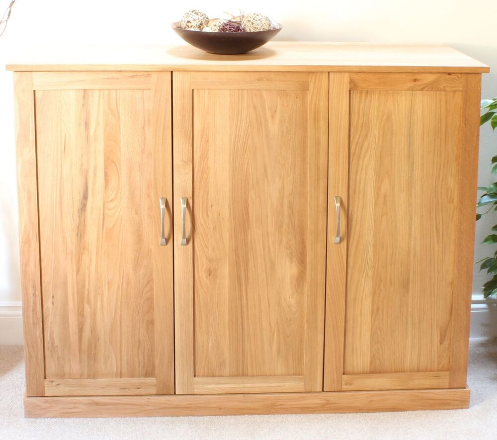 Conran solid oak furniture shoe cupboard cabinet large