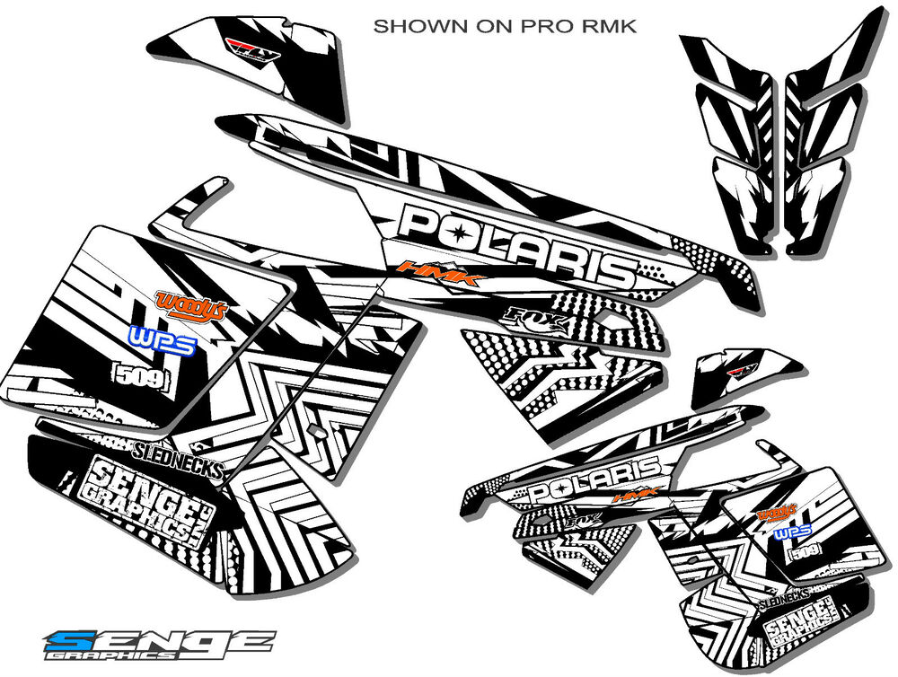 2005-2014 POLARIS IQ SHIFT DRAGON GRAPHICS DECO WRAP 2013